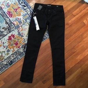 NWT black denim MEK DNM brand skinny pant p3